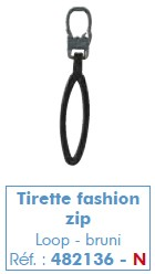 Tirette fashion zip
