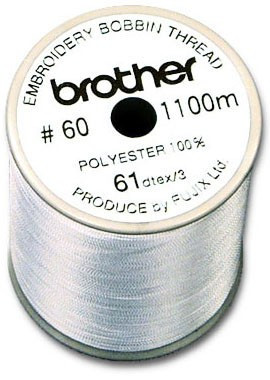 Fils spécial canette BROTHER N° 60 1100M blanc